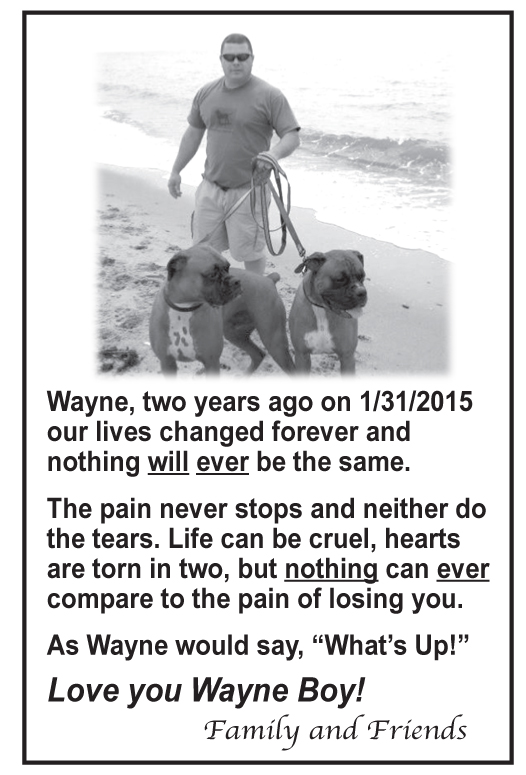 Wayne Memorial ad 2017